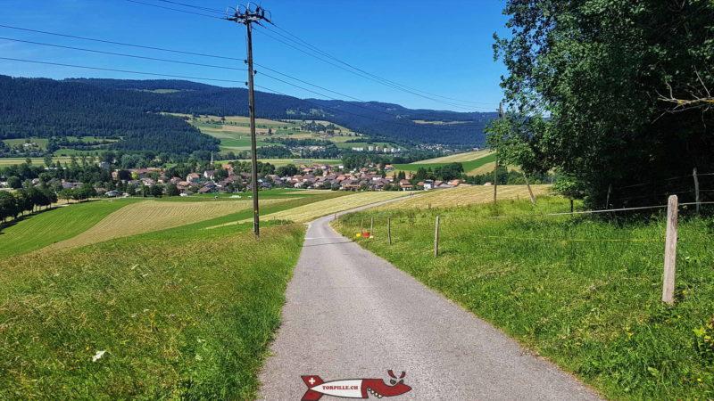 La jolie vue sur le Val-de-Travers et la région du Val-de-Travers.