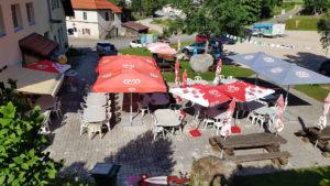 La buvette et restaurant de la Robella du parc de loisirs de la Robella