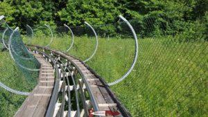 L'attraction principale du parc de loisirs de la Robella: la luge fééline.