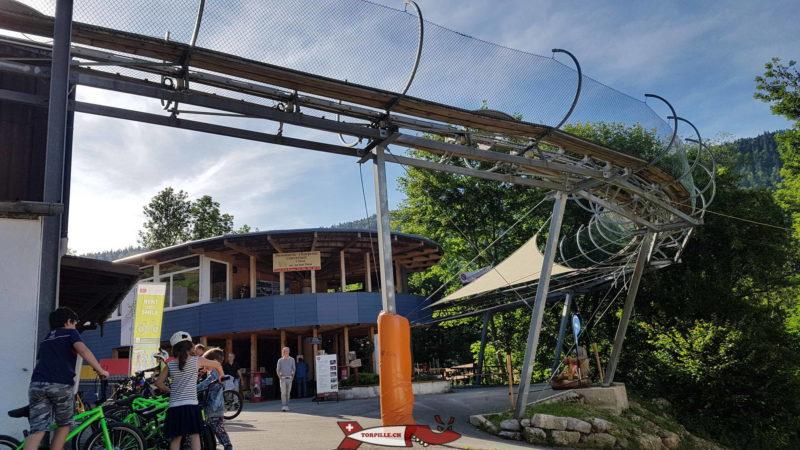 La caisse du parc de loisirs de la Robella.