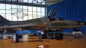 Hawker Hunter Trainer MK 68 au Musée de l'Aviation Militaire de Payerne Clin D'Ailes