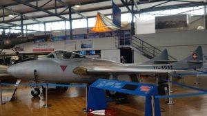 DH-115 Vampire Trainer au Musée de l'Aviation Militaire de Payerne Clin D'Ailes