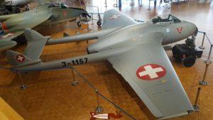 DH-100 Vampire au Musée de l'Aviation Militaire de Payerne Clin D'Ailes