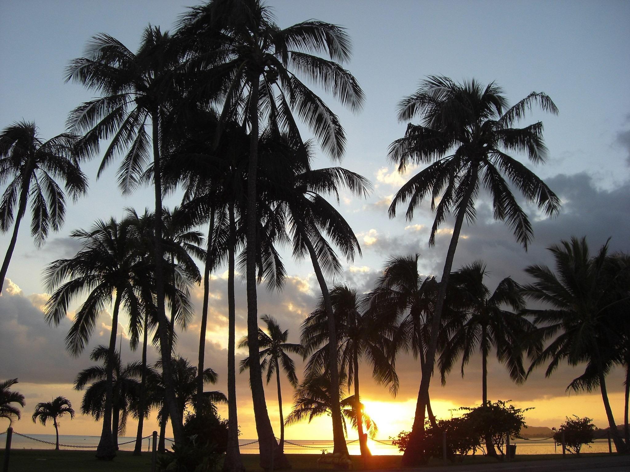Un coucher de soleil à Hawaï