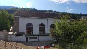 L'usine électrique CIMO de Monthey au début des gorges de la Vièze