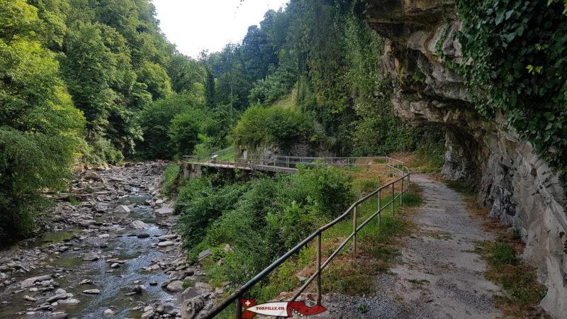 Os desfiladeiros do Vièze.