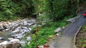 Le sentier des gorges de la Vièze