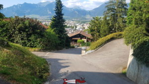 la route revenant au point de départ des gorges de la Vièze