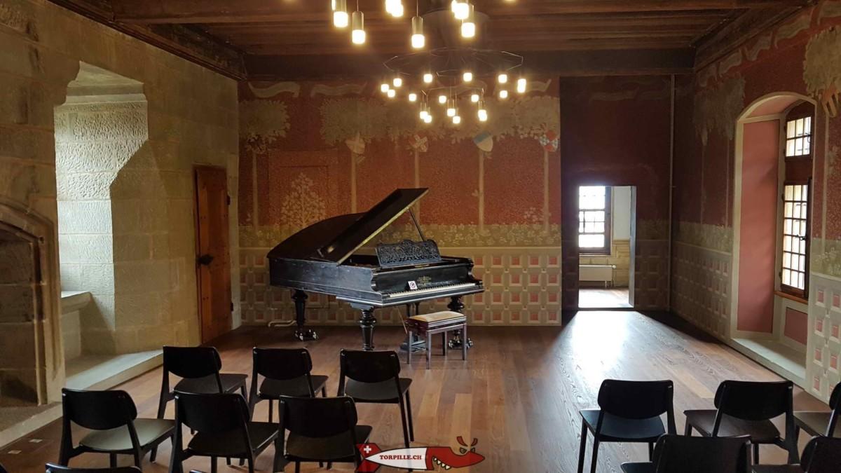 La salle du château de l'Ancien Évêché où faut reçu le duc de Bourgogne en 1476.