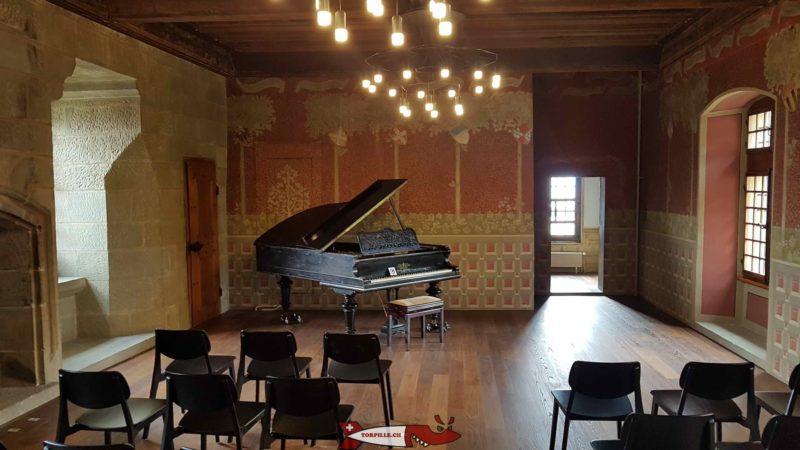 La partie du musée historique de lausanne à l'intérieur du château de l'Ancien-Evêché
