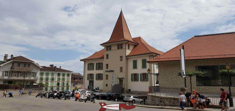 Le mudac de Lausanne en 2018 peu avant son déménagement éà son nouvel emplacement.