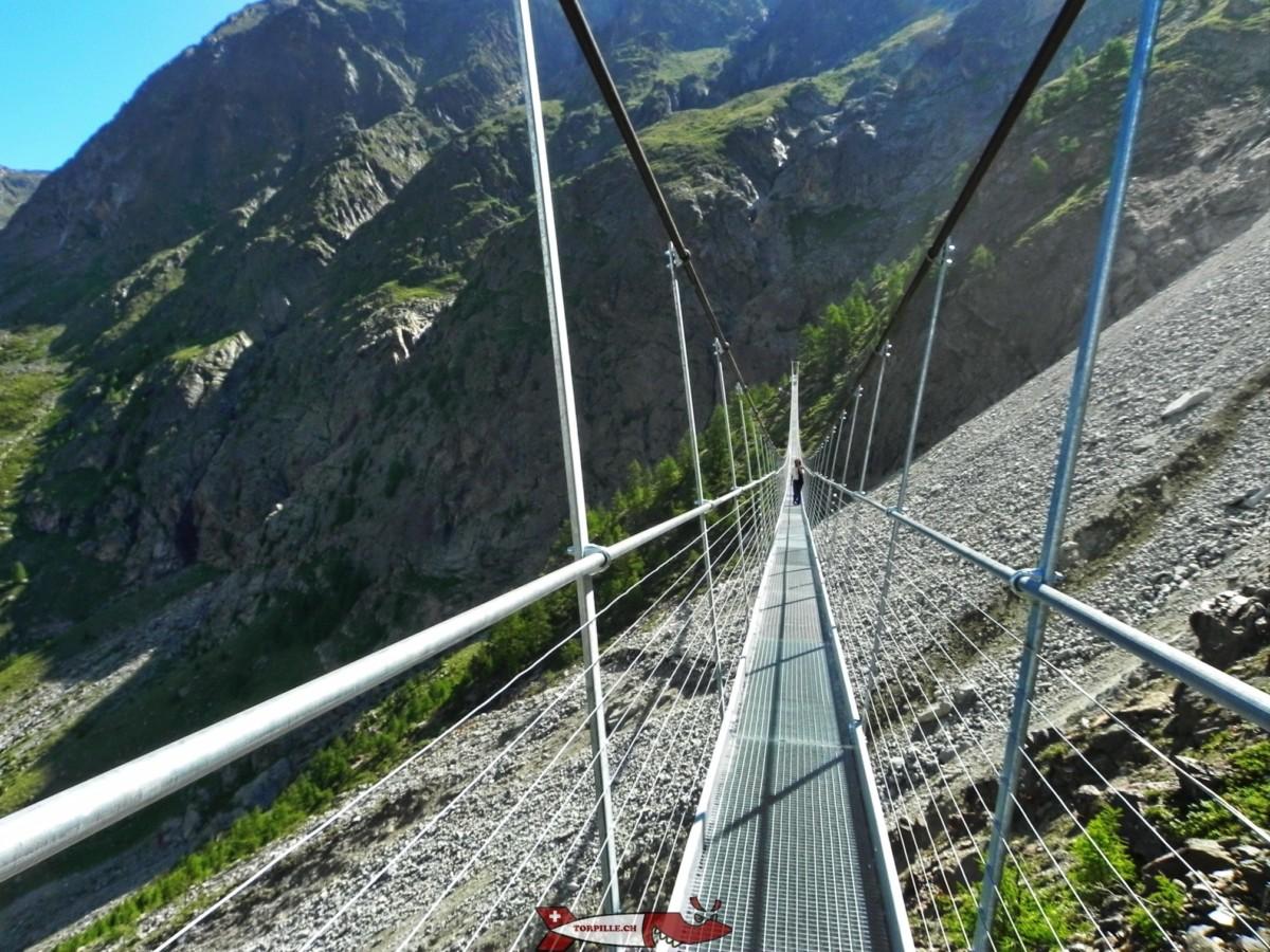 Passerelles suspendues en Suisse Romande - L'europapweg à Randa près de Zermatt