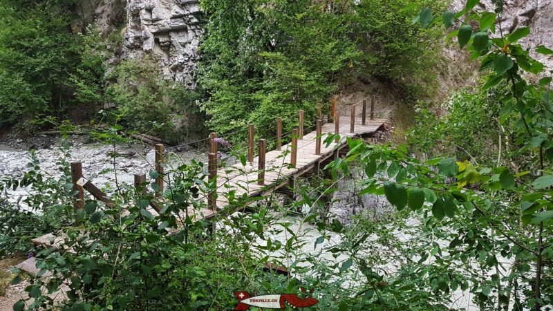 Os desfiladeiros de la Borgne.