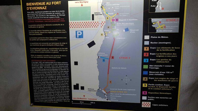 Le plan du fort d'Evionnaz