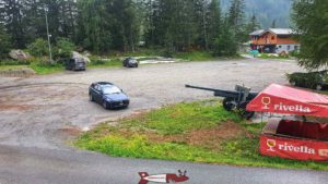 le parking pour le fort de champex-lac