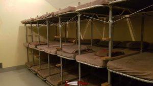 Les dortoirs de la troupe au fort de champex-lac