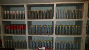 Des obus dans l'armurerie du fort de champex-lac