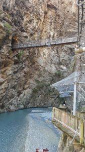Le pont reliant les 2 parties du fort de Vernayaz