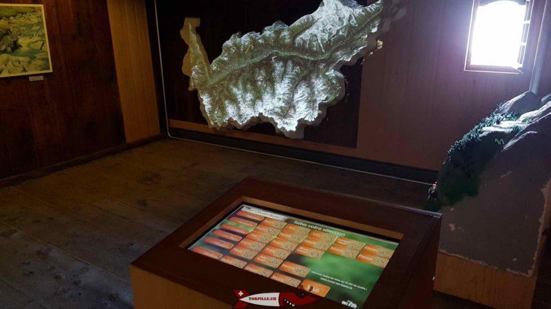 carte interactive qui affiche le tracé de toute les bisses du Valais - bisse de Savièse