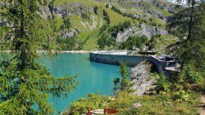 Tseuzier dam full in september