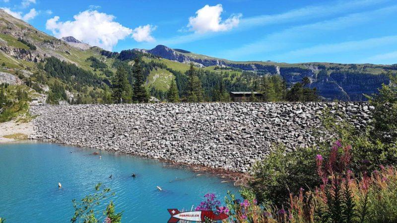 La digue Proz-Riond au barrage de Tseuzier
