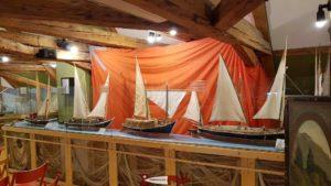 Les belles maquettes du musée musée des traditions et des barques du Léman.