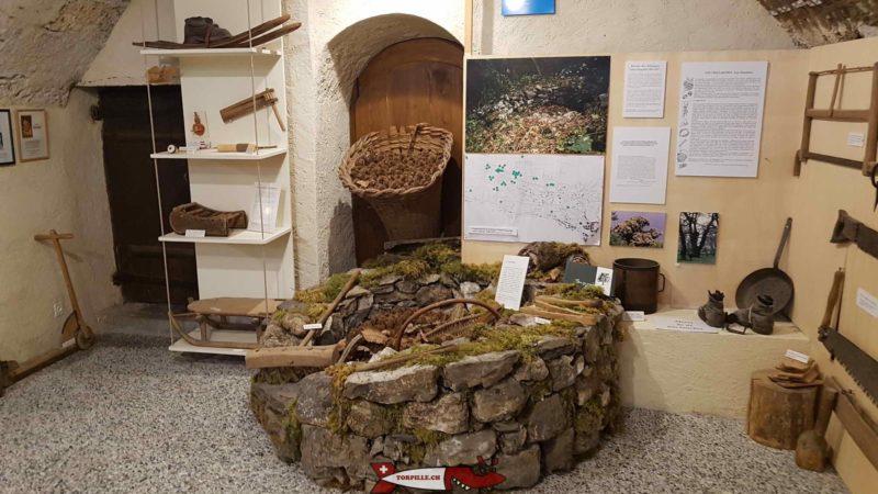 les châtaignes au musée des traditions et des barques du léman