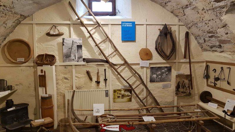 la campagne et les alpages au musée des traditions et des barques du léman