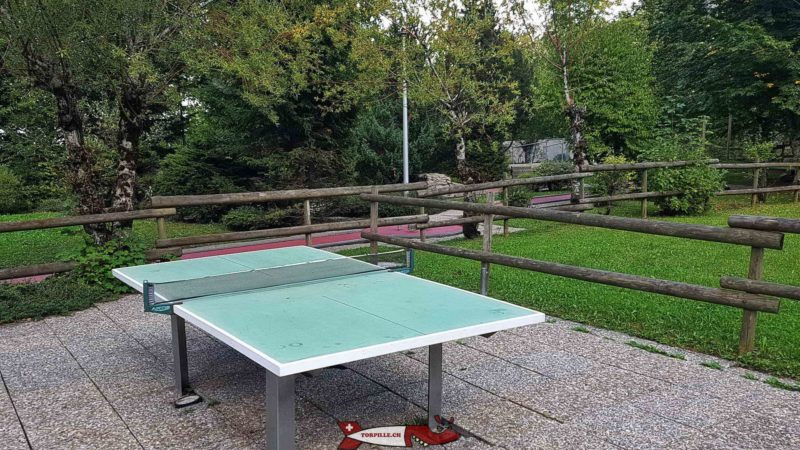 The ping-pong table. Moleson leisure park