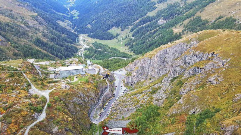 the car park under the grande dixence dam