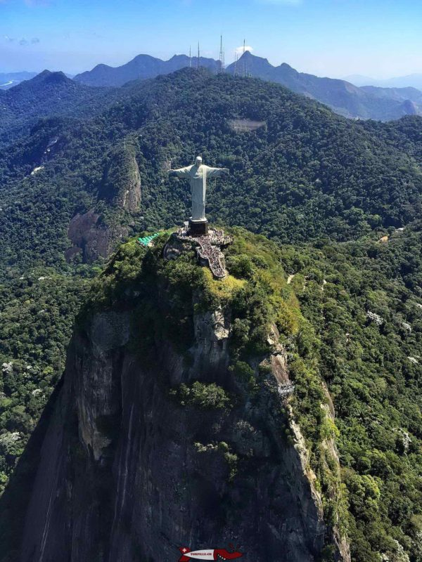 Christ the Redeemer at the top of the Corcovado hill.