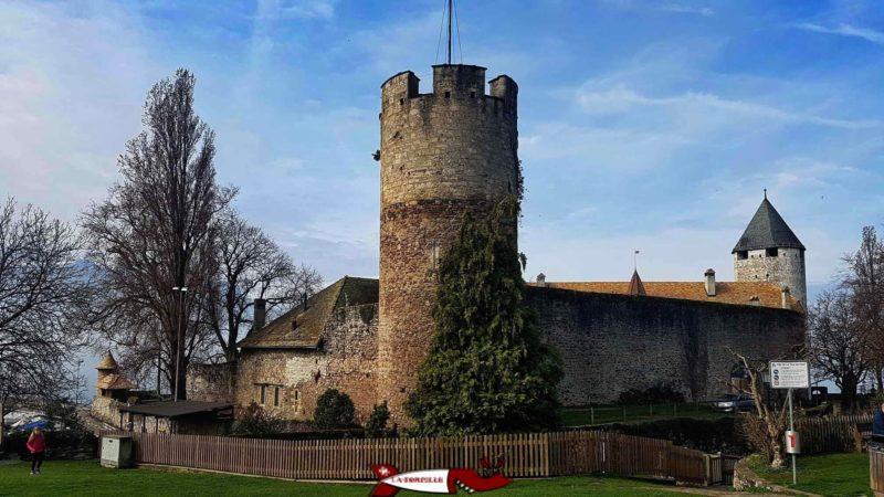 La Tour-de-Peilz castle from the northeast.