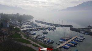 East view: The port from the tour-de-peilz castle