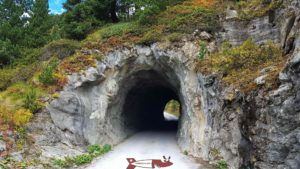 one of the two tunnels on the access road to the Cleuson dam