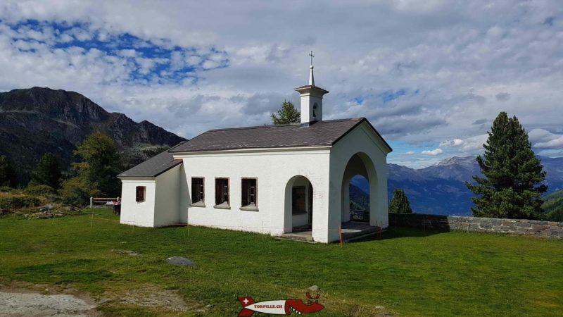 The Saint-Barthélémy chapel next to the cleuson dam