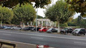 Le parc de la Grange depuis le petit train de Genève