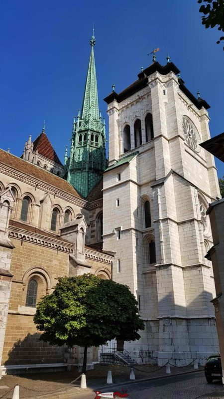 The Cathedral of Saint Pierre in Geneva, an emblematic figure of Geneva in the Middle Ages and still today.