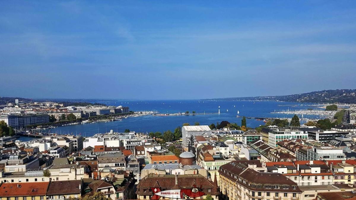 vue depuis la Cathédrale de Genève