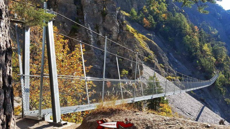 The third hanging bridge of the bisse of saviese