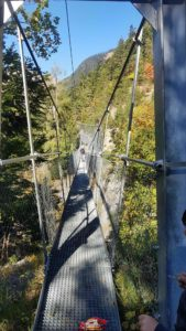 The fourth hanging bridge of the bisse of Savièse