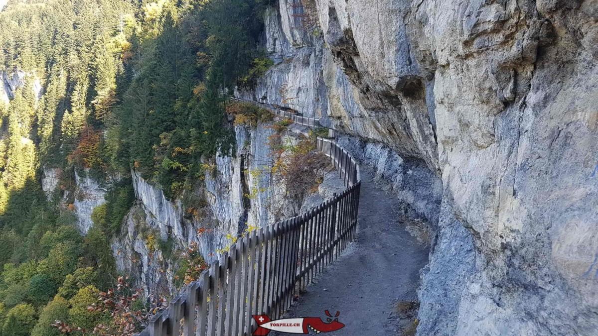 La galerie Défago - gorges de Suisse Romande