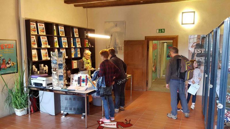 The exhibition reception on the cartoon strip - saint-maurice castle
