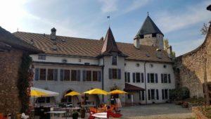 The tour-de-peilz castle main building hosting the Swiss museum of game.