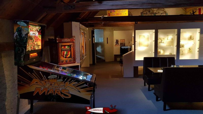 larger games such as pinball machines at the Swiss Museum of games