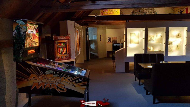 des jeux plus imposants comme des flippers au musée suisse du jeu