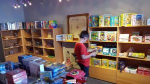 The shop of the Swiss Museum of Games