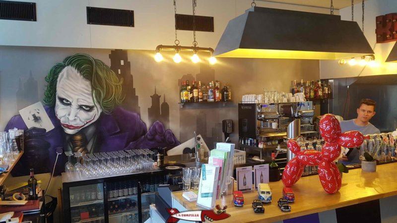 Inside bistrot le joker at la tour-de-peilz castle