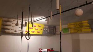 A training area and a yoga zone at totem climbing Vevey