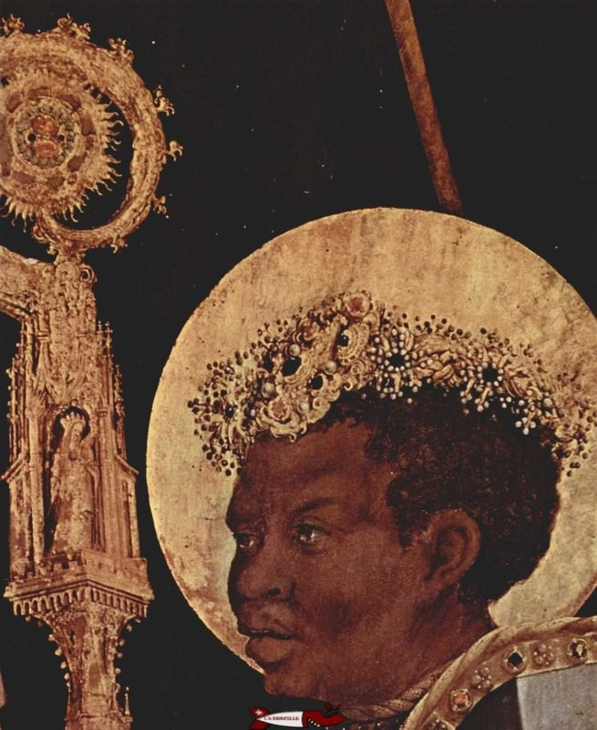 Saint-Maurice on a 16th century painting