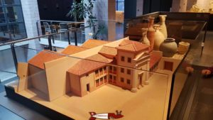 The model of the domus at Lausanne-Vidy Roman Museum
